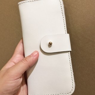 Zemoneni unisex leather purse Wallet in White color