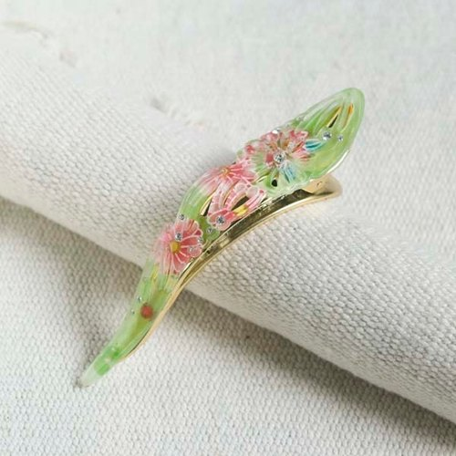 Thousands of cherry fire, hollow diamond, nib folder - green