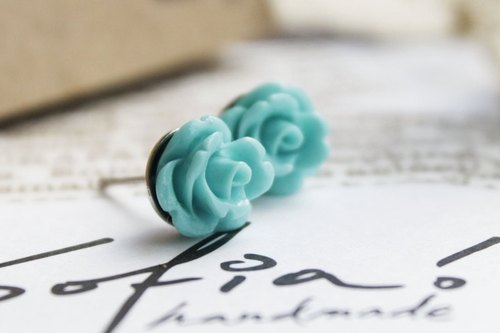[Earring] Warm Rose-blue