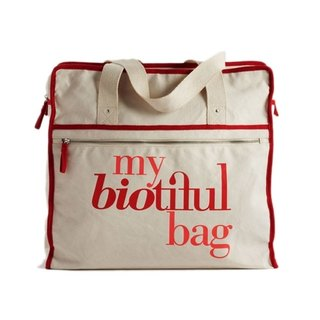 法國my biotiful bag有機棉Weekend Bag-Red