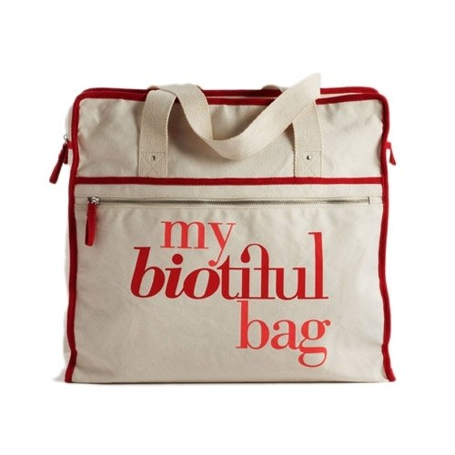 France my biotiful bag Organic Cotton Weekend Bag-Red