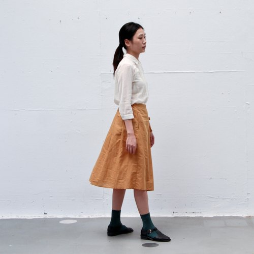 Skirt No.1 - mustard yellow skirt