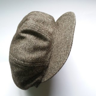 Olive green twill soft newsboy hat