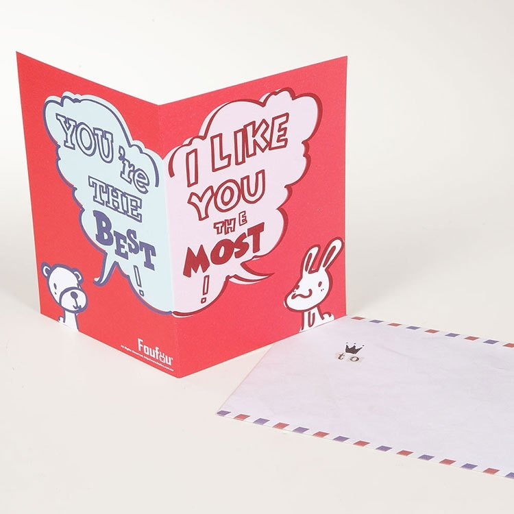 """Foufou"" universal card Card- I like you I Like You The Most"