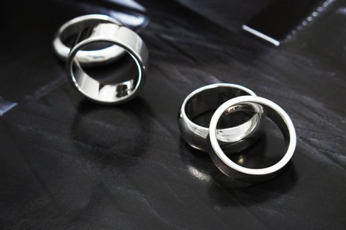 Custom Rings - Handmade Thick Edition Suspended Surface 8mm Sterling Silver Ring
