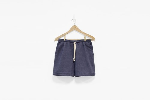Straight line bristle cotton drawstring shorts - Twist green