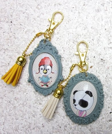 My Daydream Workshop design their own cartoon character panda key chains / key ring / Bag Charm
