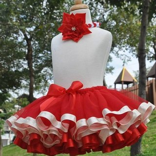 Angel Nina handmade hand-made children's fantasy Melaleuca red Peng Peng skirt TUTU
