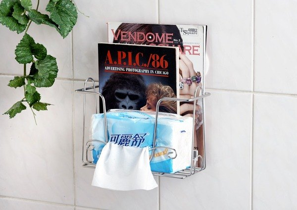 * New Generation * Free drill toilet paper holder, intermediation design, before the next pumping pumping pumping can, and placed two bags of disposable, elegant style, careful design, 304 stainless steel, can also be made bottles rack