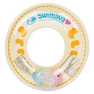 [Is a bath toy, not a swimming neck Oh!] Swimava mini yellow duck neck circle bath toys -1 into (size: 11x11cm)