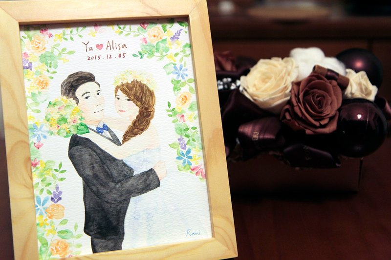 Wedding invitation illustration / wedding invitation design / card / lace drawing / custom painting / wedding