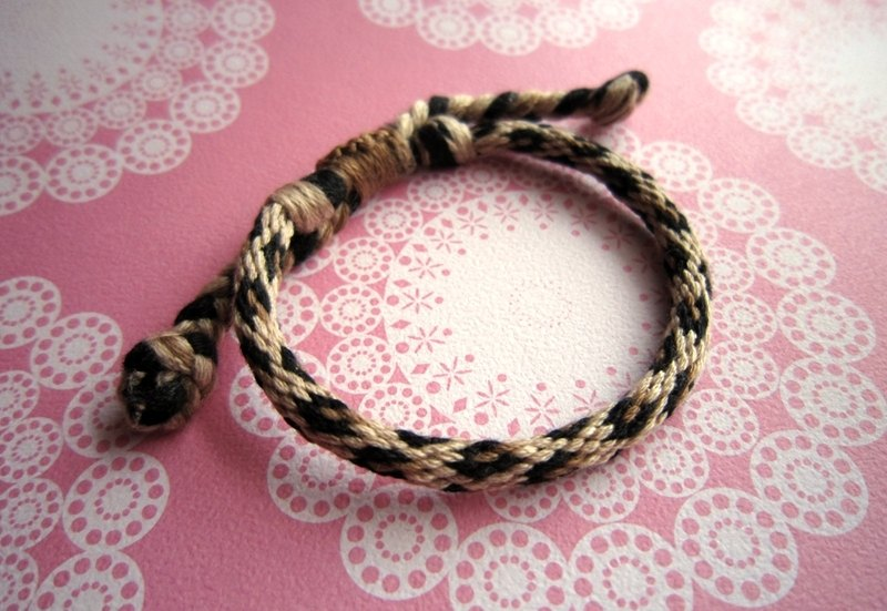 Wild leopard round rope lucky rope woven bracelet (optional color)
