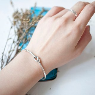 MUFFëL 925 Silver sterling silver bracelets simple neutral knots (opening paragraph)