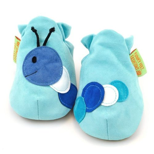 ★ ★ custom handmade shoes FunkyFeet Fashions [British] blue caterpillar toddler shoes 0-24M (NT $ 1750) / 2-7Y (NT $ 1950)