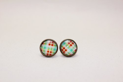 △ bronze retro handmade earrings〗 〖picnic with honey muffin