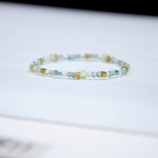 Apatite Moonstone Bracelet (049) - Water Droplets Outside the Window