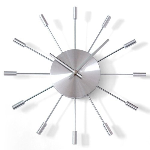 [N20002] a.cerco Clock tapered aluminum wall clock Taiwan movement; clock / alarm / loft wind / minimalist / texture / unstamped / industrial wind