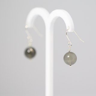 [Symphony] ColorDay gray Moonstone (moonstone) Silver Earrings