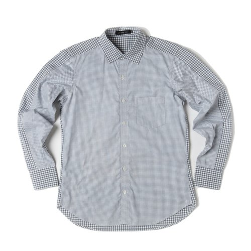 Stone'As Check Shirt / 剪接 格子 襯衫
