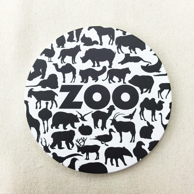 Zoo is a ceramic water coaster