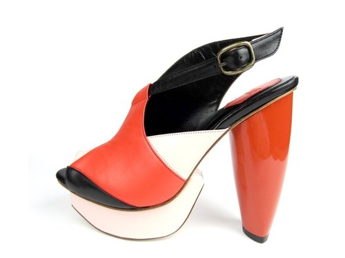 CLAVE [A Season for Murder] REVENGE- Orange red -Platform shoes