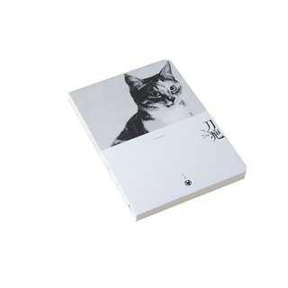 Nine Bobcat series 160page drywall bare white paper notebook - Scar (04)
