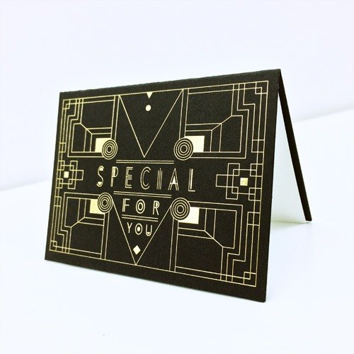 [Specail Greeting Card] Baroque Gold Stamped Gift Card