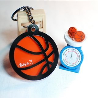 Basketball keychain basketball earrings + / engraved name / Day