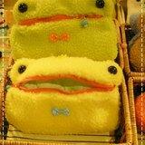 RABBIT LULU 青蛙臉 化妝包。筆袋 。禮物 創意市集 純手縫 手創