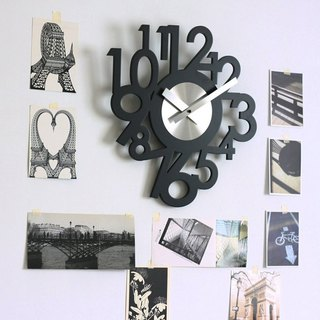 Big Numbers Wooden Wall Clock