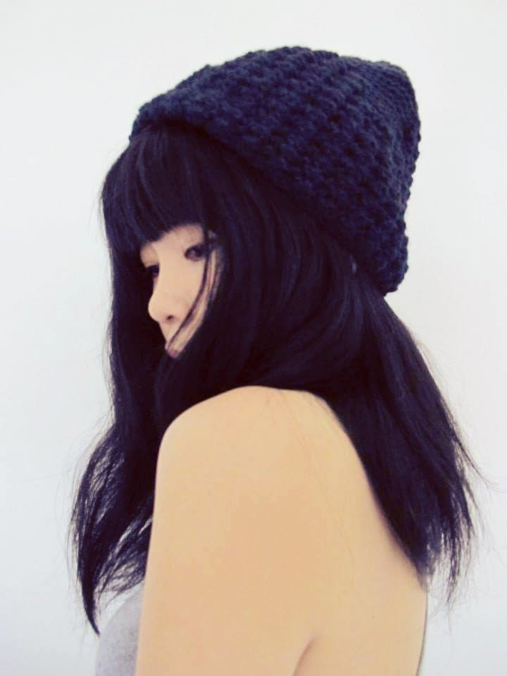 Lan wool hat (black)