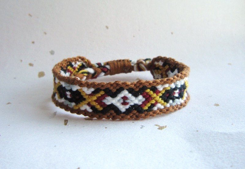 Western boy lucky rope woven bracelet (optional color)