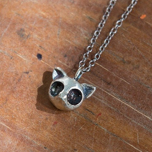 Watery eyes cat │925 Silver Pendant