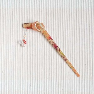 Summer dream, floral knot, hairpin, hairpin - pink