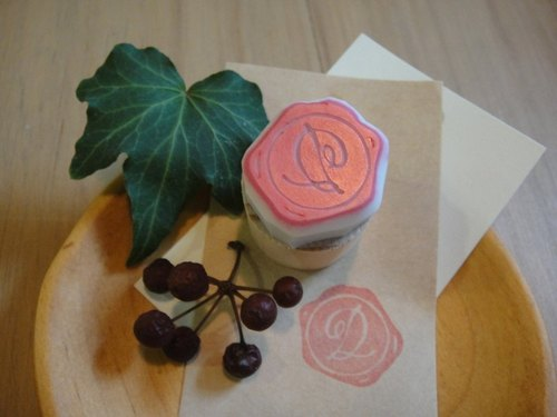 Hand-made rubber stamp - wax seal chapter (resolution 1 D)