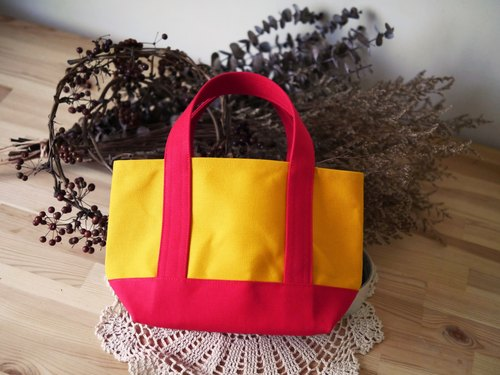 Classic Tote Bag Ssize sunflower x red - Sunflower Yellow x Red -
