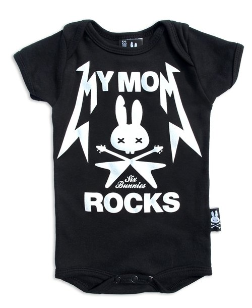 My mom coolest of MY MOM ROCKS - baby clothing bag fart