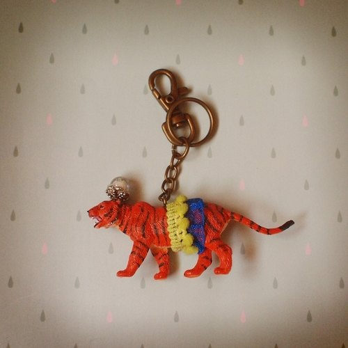 Gorgeous adventure - Tiger keychain