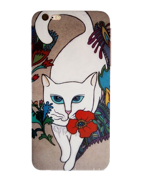 Nine cats | white cat iPhone6P / 6sP common soft-shell mobile phone illustration