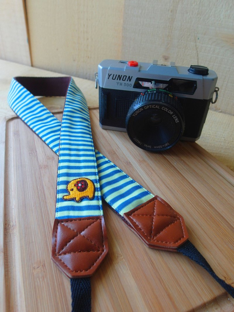 HiDots together to travel the camera strap (blue and yellow stripe * Elephant)