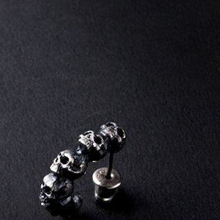 Skull Pierce | unilateral skull earrings
