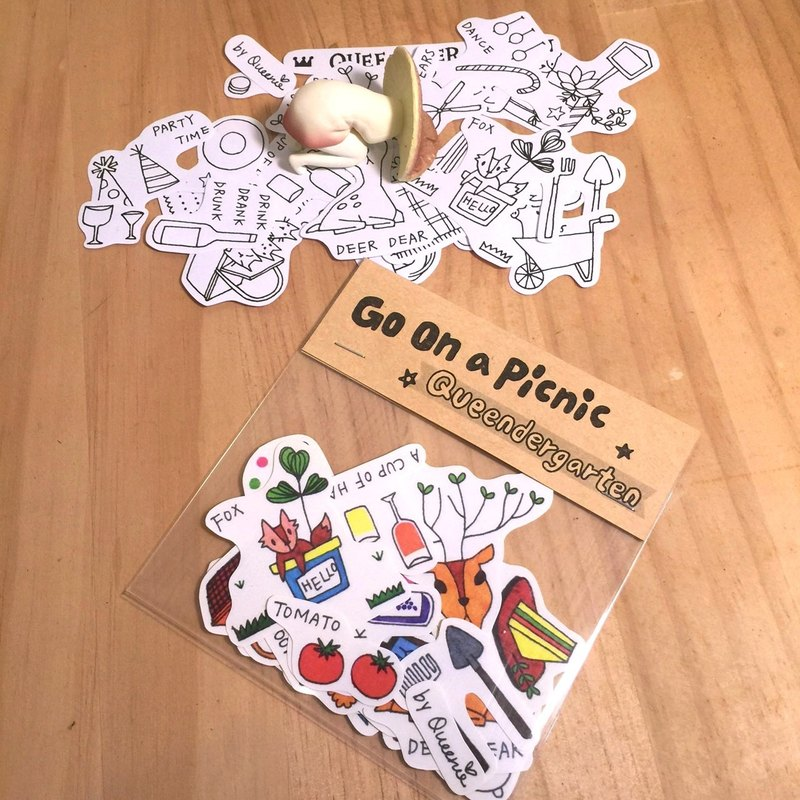 ☀ picnic / stickers (black and white section)