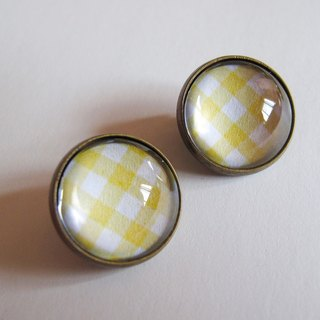 Scottish pattern yellow ear clip ear acupuncture