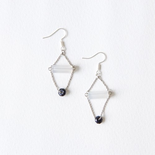 Moonlight stars / Moonlight Swing - Natural stone earrings
