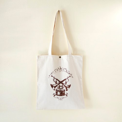 Cotton canvas Vintage Pattern Tote Bag---Power Of Music