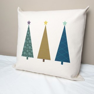 Christmas tree cotton canvas pillow