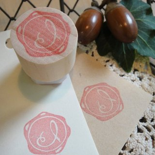 Hand-made rubber stamp - wax seal chapter (resolution 1 I)