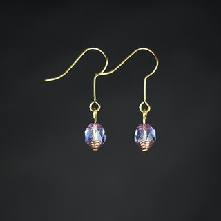 ✡The Happy Prince - Yu Yun ✡ light purple blue antique teardrop glass beads earrings
