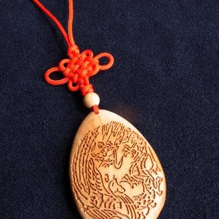 Blessed gift foreign friends the best gift ㊣ India Laoshan sandalwood necklace - Dragon and Phoenix