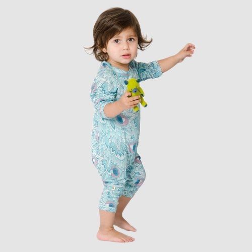 Swedish soft organic cotton baby clothing Shampoodle printing package fart clothing coveralls